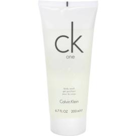 Calvin Klein CK One gel de duche unissexo 200 ml