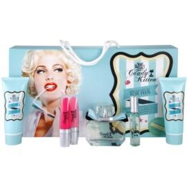 Candy Kitten Turquoise dárková sada II. toaletní voda 100 ml + tělové mléko 100 ml + sprchový gel 100 ml + lesk na rty 5 ml + lesk na rty 5 ml