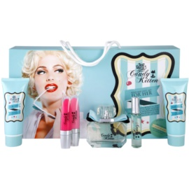 Candy Kitten Turquoise lote de regalo II.  eau de toilette 100 ml + leche corporal 100 ml + gel de ducha 100 ml + brillo de labios 5 ml + brillo de labios 5 ml