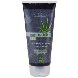 Cannaderm Natura sprchový peeling s rašelinou  200 ml