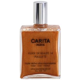 Carita Beauté 14 óleo seco nutritivo com glitter   50 ml