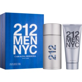 Carolina Herrera 212 NYC Men confezione regalo VII  eau de toilette 100 ml + gel after-shave 100 ml