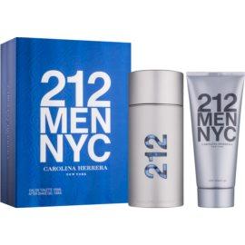 Carolina Herrera 212 NYC Men подаръчен комплект VII.  тоалетна вода 100 ml + афтършейв гел 100 ml