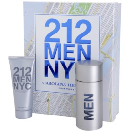 Carolina Herrera 212 NYC Men подаръчен комплект III. тоалетна вода 100 ml + афтършейв гел 100 ml