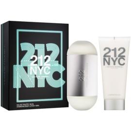 Carolina Herrera 212 NYC dárková sada XIV.  toaletní voda 100 ml + tělové mléko 100 ml