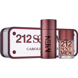Carolina Herrera 212 Sexy Men dárková sada V.  toaletní voda 100 ml + voda po holení 100 ml
