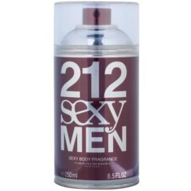 Carolina Herrera 212 Sexy Men testápoló spray férfiaknak 250 ml
