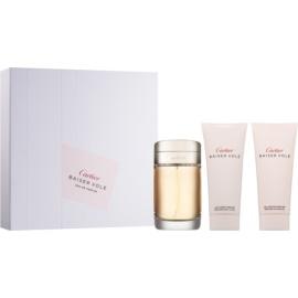 Cartier Baiser Volé coffret XIII.  leite corporal 100 ml + Eau de Parfum 100 ml + gel de duche 100 ml