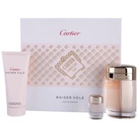 Cartier Baiser Volé подаръчен комплект V. парфюмна вода 100 ml + мляко за тяло 100 ml + парфюмна вода 6 ml