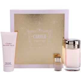 Cartier Baiser Volé подаръчен комплект XI.  парфюмна вода 100 ml + лосион за тяло 100 ml + парфюмна вода 6 ml