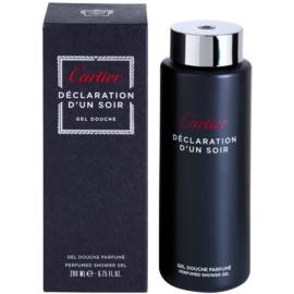 Cartier Déclaration d'Un Soir tusfürdő férfiaknak 200 ml