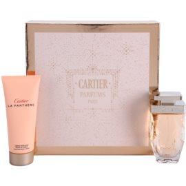 Cartier La Panthère Légere ajándékszett I.  Eau de Parfum 75 ml + testápoló krém 100 ml