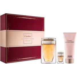 Cartier La Panthere coffret III. Eau de Parfum 75 ml + creme corporal 100 ml + Eau de Parfum 6 ml