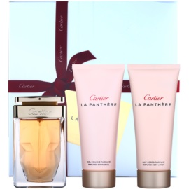 Cartier La Panthere set cadou VII.  Eau de Parfum 75 ml + Lotiune de corp 100 ml + Gel de dus 100 ml