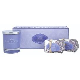 Castelbel Lavender darčeková sada I. mydlo 2 x 150 g  + Sviečka