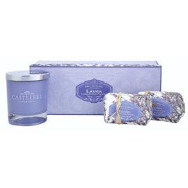Castelbel Lavender ajándékszett I. szappan 2 x 150 g  + gyertya