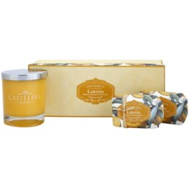 Castelbel Orange dárková sada I. mýdlo 2 x 150 g  + svíčka