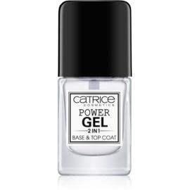 Catrice Power Gel 2 in1 основа та закріплювач для лаку для нігтів  10,5 мл