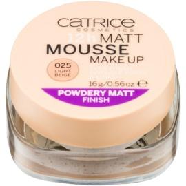 Catrice Matt Mousse 12h matující pěnový make-up 025 Light Beige 16 g