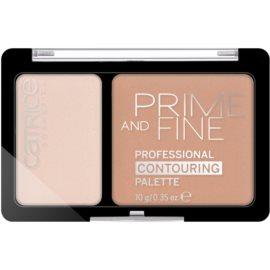 Catrice Prime And Fine arckontúr paletta árnyalat 030 Sunny Sympathy 10 g