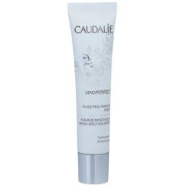 Caudalie Vinoperfect élénkítő hidratáló folyadék egységesíti a bőrszín tónusait SPF 20  40 ml
