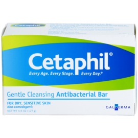 Cetaphil Cleansers gyengéden tisztító antibakteriális szappan száraz és érzékeny bőrre  127 g