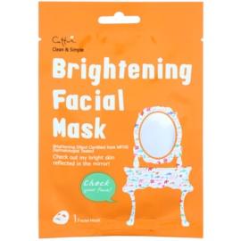 Cettua Clean & Simple máscara em folha com efeito iluminador