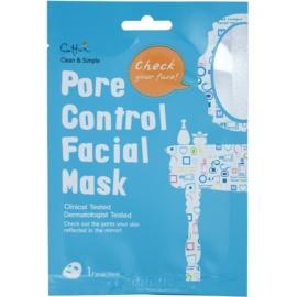 Cettua Clean & Simple mascarilla hoja para cerrar los poros y matificar la piel