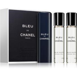 Chanel Bleu de Chanel woda toaletowa dla mężczyzn 3x20 ml (1x napełnialny + 2x napełnienie)