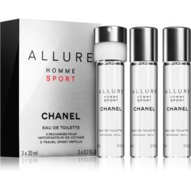 Chanel Allure Homme Sport woda toaletowa dla mężczyzn 3 x 20 ml uzupełnienie