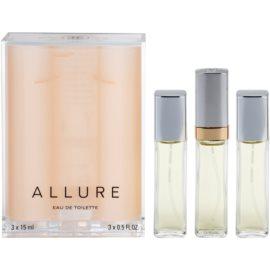 Chanel Allure Eau de Toilette für Damen 45 ml (1x Nachfüllbar + 2x Nachfüllung)