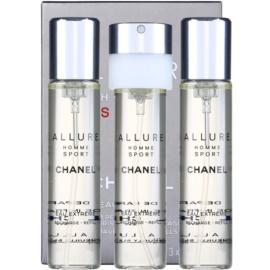 Chanel Allure Homme Sport Eau Extreme Eau de Parfum für Herren 3 x 20 ml Ersatzfüllung