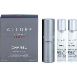 Chanel Allure Homme Sport Eau Extreme Eau de Toilette for Men 3 x 20 ml (1x Refillable + 2x Refill)