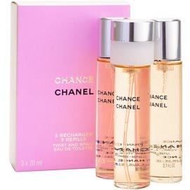 Chanel Chance toaletní voda pro ženy 3 x 20 ml náplň