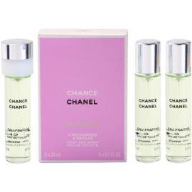 Chanel Chance Eau Fraiche woda toaletowa dla kobiet 3x20 ml (3 x napełnienie)
