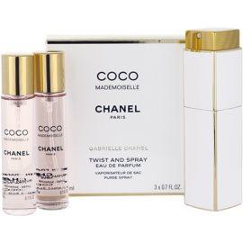 Chanel Coco Mademoiselle parfumska voda za ženske 3x20 ml (1x  polnilna + 2x polnilo)