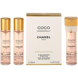 Chanel Coco Mademoiselle parfumska voda za ženske 3x20 ml (3x polnilo)