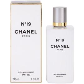 Chanel No.19 sprchový gel pro ženy 200 ml