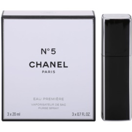 Chanel No.5 Eau Premiere Eau de Parfum para mulheres 3 x 20 ml (1x vap.recarregável + 2 x recarga)