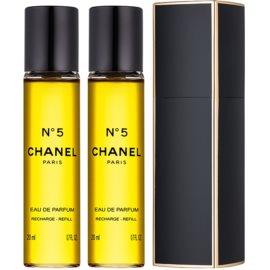 Chanel N°5 парфюмна вода за жени 3x20 мл. (1 бр. зареждащ се + 2 бр. пълнеж) малка опаковка