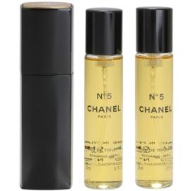 Chanel No.5 Eau de Toilette für Damen 20 ml (1x Nachfüllbar + 2x Nachfüllung)