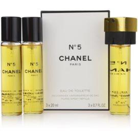 Chanel N°5 toaletna voda za ženske 3 x 20 ml potovalno pakiranje