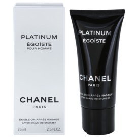 Chanel Egoiste Platinum emulsión after shave para hombre 75 ml