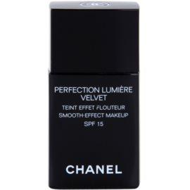 Chanel Perfection Lumiére Velvet aksamitny podkład matujące odcień 60 Beige SPF 15  30 ml