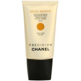 Chanel Précision Soleil Identité crema autobronzanta pentru fata SPF 8 culoare Golden  50 ml