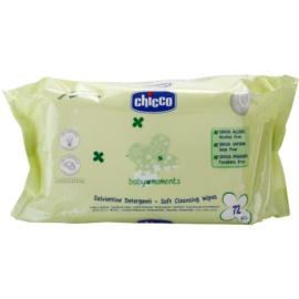 Chicco Baby Moments Cleansing jemné čisticí ubrousky pro děti od narození  72 ks