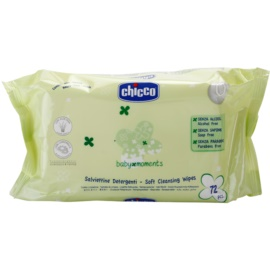 Chicco Baby Moments Cleansing tisztító gyengéd törlőkendő gyermekeknek születéstől kezdődően  72 db