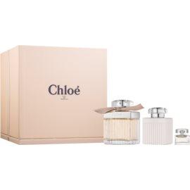 Chloé Chloé set cadou III  Eau de Parfum 75 ml + Lotiune de corp 100 ml + Eau de Parfum 5 ml