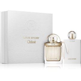 Chloé Love Story подаръчен комплект I. парфюмна вода 50 ml + мляко за тяло 100 ml