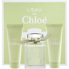 Chloé L'Eau de Chloé coffret I. Eau de Toilette 100 ml + leite corporal 75 ml + gel de duche 75 ml
